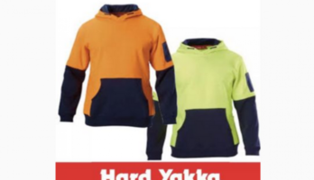 Hard Yakka Hi Vis Hoodie Medium In orange NEW