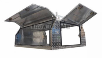 2400x1800x860mm Aluminum Alloy Single Cabs Full Cover Canopy