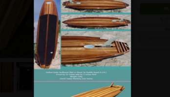 Handmade wooden surfboards and art