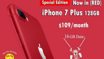 Special Edition RED iPhone 7 Plus 16GB Data with Contract