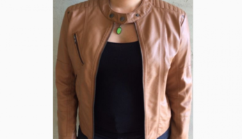 Sadie faux-leather jacket