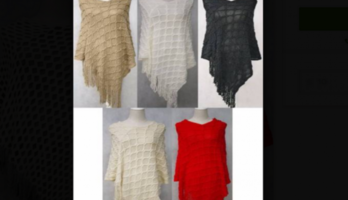 Women's Knitted Winter Poncho Shawl free size