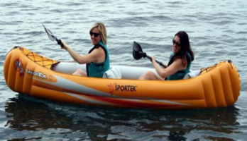 Brand new Sportek Indika inflatable canoe with 2 paddles for only $199! Save $160!