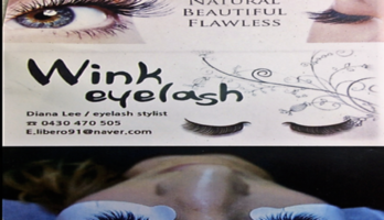 Wink eyelash extension and nail art
