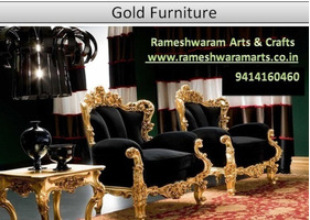 Gold Furniture Dressing Table