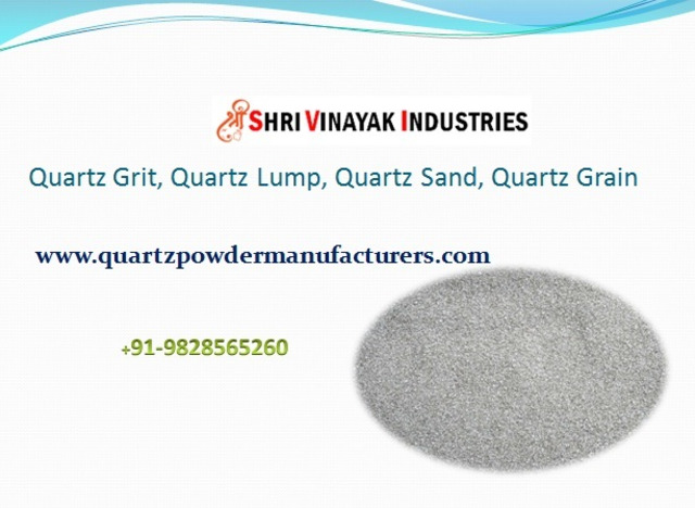 Leading Supplier of Quartz Powder/ Grit in India Saudi Arabia Shri Vinayak Industries